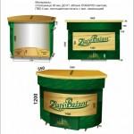 Heineken: Изготовлена пивная стойка Zlaty Bazant и смонтирована в Национальной библиотеке РБ!